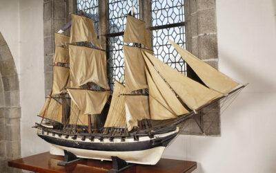 Présentation de la maquette de bateau La Sainte Anne